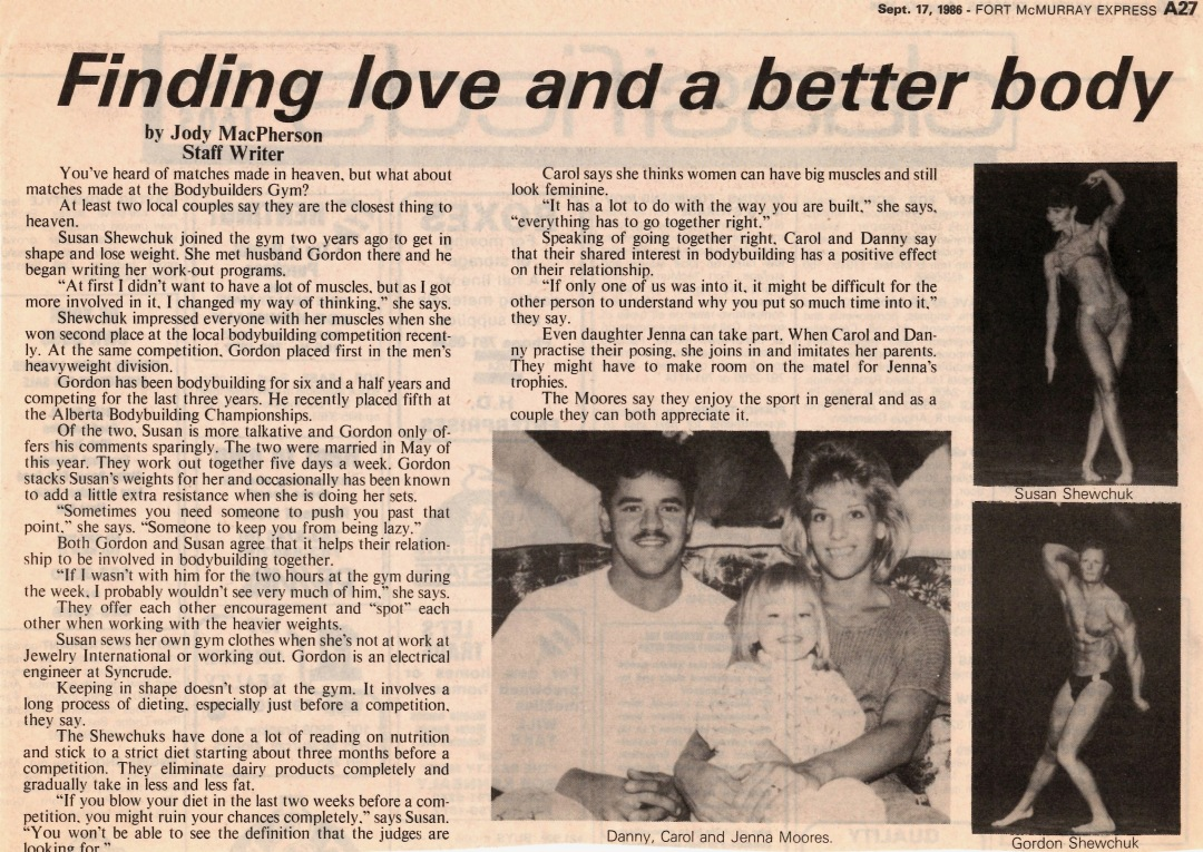 Newspaper clipping from Fort McMurray Express September 17 1986